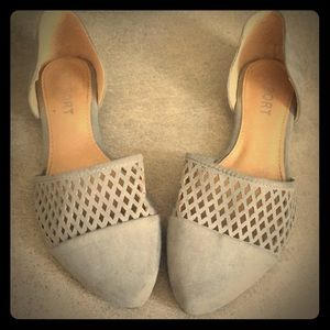 """Gray """"Suede"""" Flats by Report"""